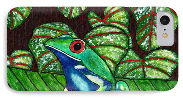 IPhone Case featuring the painting Eye On You by Laura Forde