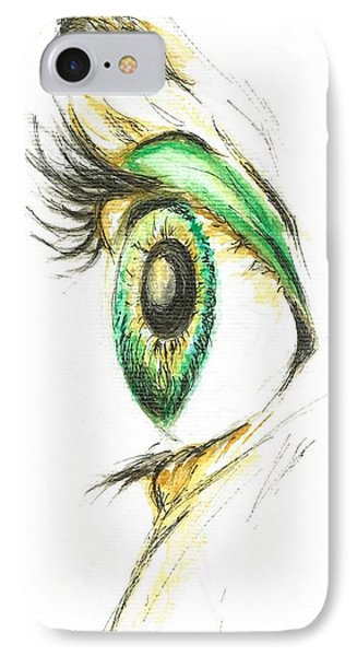 IPhone Case featuring the painting Eye Opener by Teresa White