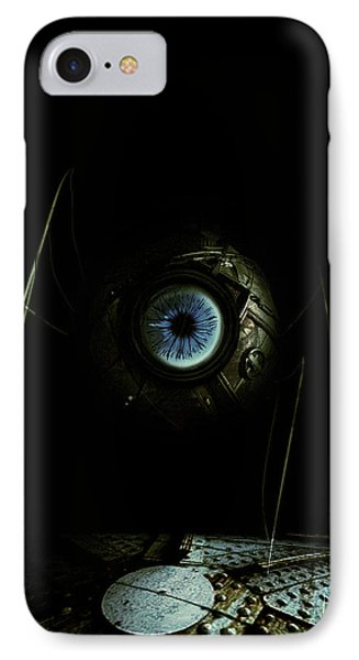 IPhone Case featuring the digital art Eye Robot by Jeremy Martinson