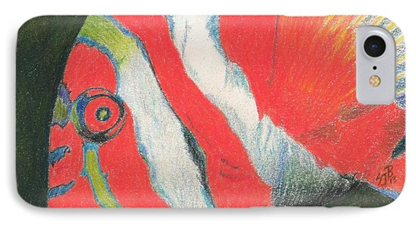 IPhone Case featuring the drawing Eye There by Sheila Byers