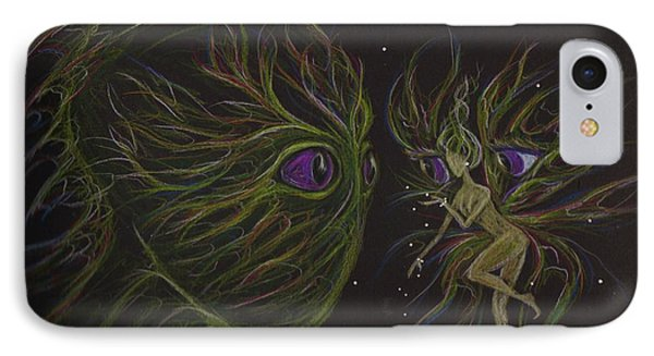 IPhone Case featuring the drawing Eye To Eye by Dawn Fairies