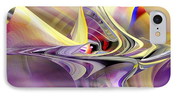 Eye Watcher - Abstract Art IPhone Case by rd Erickson