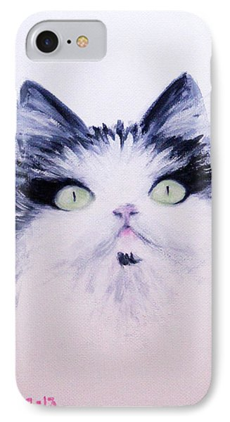 IPhone Case featuring the painting Eyelash Kitty by Janet Greer Sammons