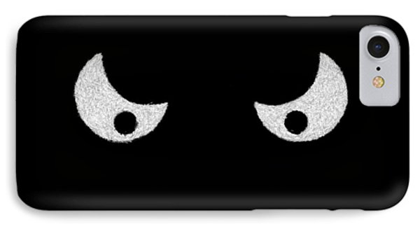 Eyes - In The Dark Phone Case by Mike Savad
