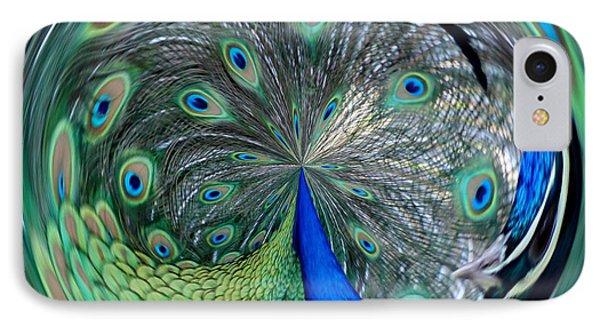 Eyes Of A Peacock Phone Case by Cynthia Guinn