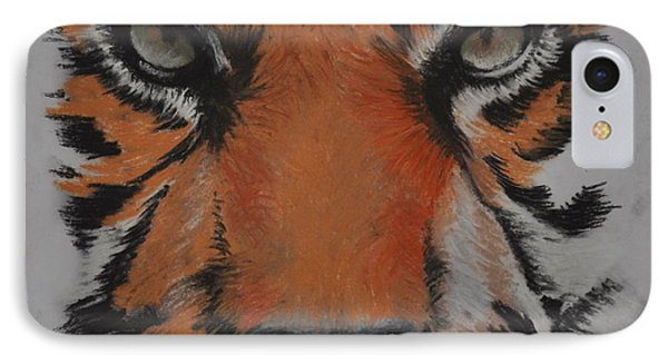 Eyes Of The Tiger IPhone Case by Linda Ferreira