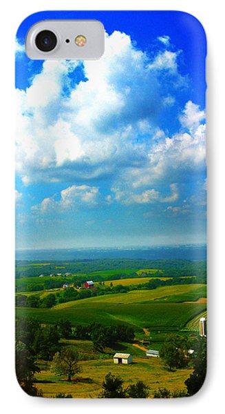 Eyes Over Farmland IPhone Case by Jeff Kurtz