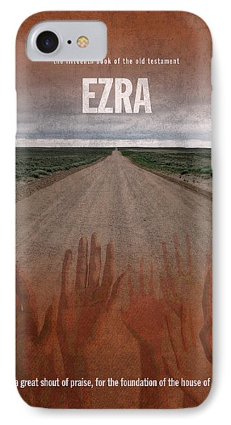 Ezra Books Of The Bible Series Old Testament Minimal Poster Art Number 15 Phone Case by Design Turnpike