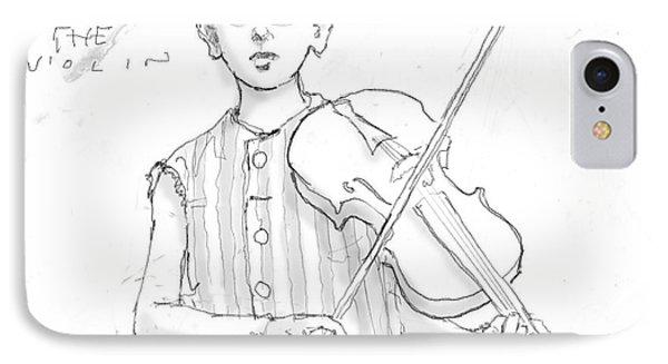 Ezra Plays The Violin IPhone Case by H James Hoff