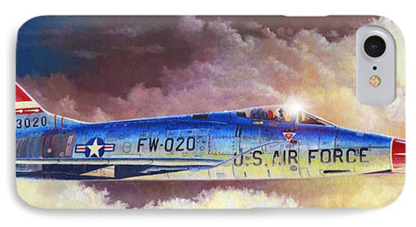 F-100d Super Sabre IPhone Case by Douglas Castleman