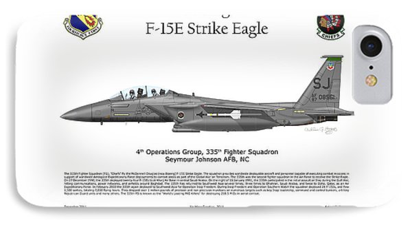 F-15e Strike Eagle 335th Fs IPhone Case by Arthur Eggers