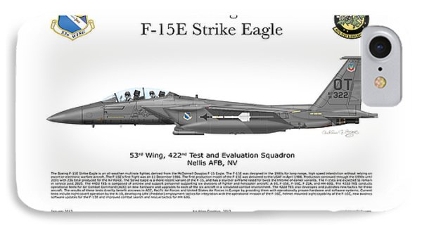 F-15e Strike Eagle 442d Tes Phone Case by Arthur Eggers