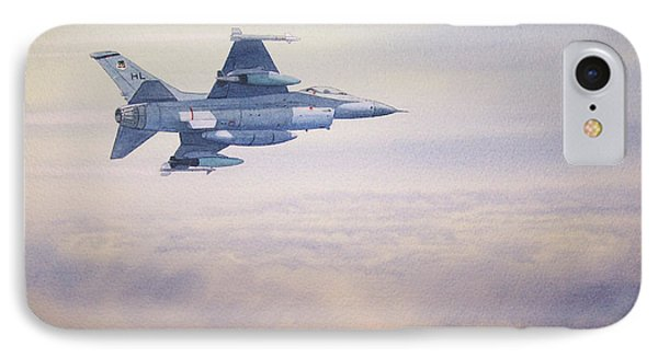 F-16 Fighting Falcon IPhone Case by Bill Holkham