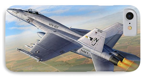 F-18e Over The Valley IPhone Case