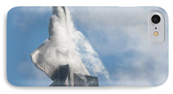 IPhone 7 Case featuring the photograph F-22 Raptor Creates Its Own Cloud Camouflage by Nathan Rupert