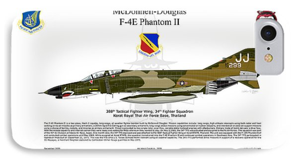F-4e Phantom II IPhone Case by Arthur Eggers
