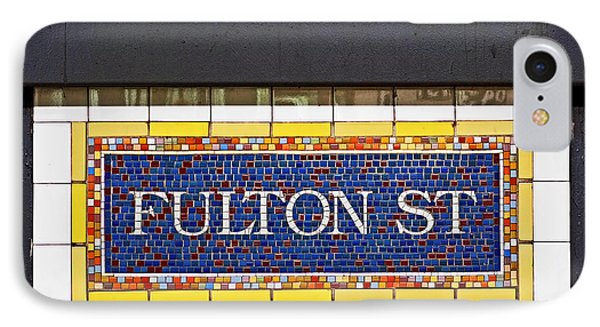 F Is For Fulton Street IPhone Case by Rona Black