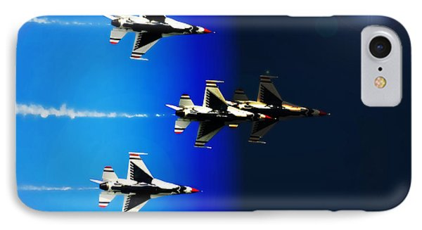 F16 Flight Into Space IPhone Case by DigiArt Diaries by Vicky B Fuller