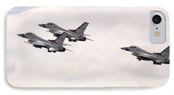 F16 Thunderbirds  IPhone Case by Eric Chamberland
