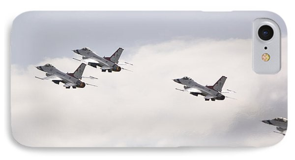 F16 Thunderbirds In Formation IPhone Case by Eric Chamberland