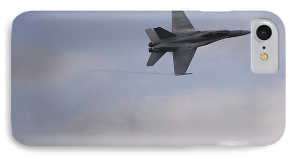 F18 In Tight Turn IPhone Case by Eric Chamberland