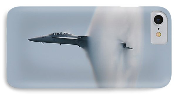 IPhone Case featuring the photograph Fa 18 Super Hornet Vapor Circle 2 by Donna Corless