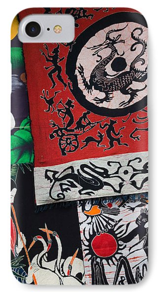 Fabric Items For Sale At A Market IPhone Case by Panoramic Images