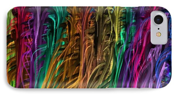 Fabric Textures  Threads Strands Colorful Wave Diy Template Download License Print Rights IPhone Case by Navin Joshi
