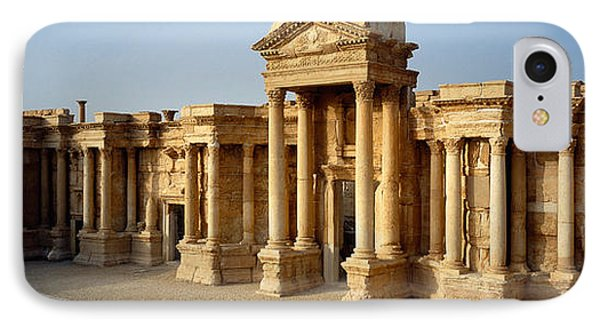 Facade Of A Building, Palmyra, Syria IPhone Case by Panoramic Images