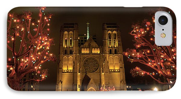 Facade Of A Church, Grace Cathedral IPhone Case by Panoramic Images