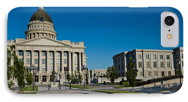 Facade Of A Government Building, Utah IPhone Case