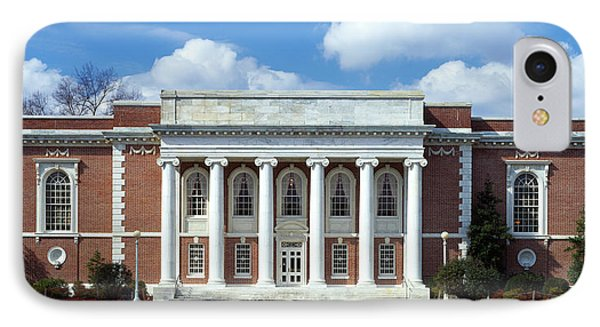 Facade Of A Library, Lilly Library IPhone Case by Panoramic Images