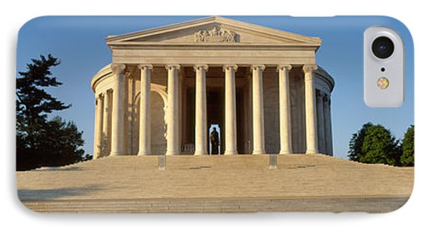 Facade Of A Memorial, Jefferson IPhone 7 Case by Panoramic Images