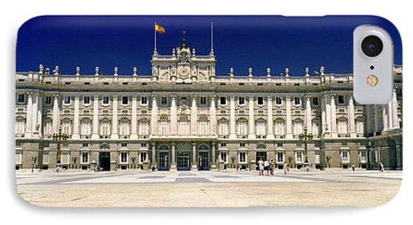 Facade Of A Palace, Madrid Royal IPhone Case by Panoramic Images