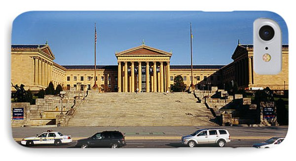 Facade Of An Art Museum, Philadelphia IPhone Case by Panoramic Images