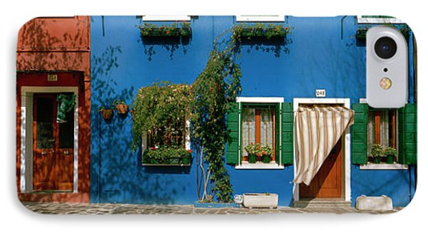 Facade Of Houses, Burano, Veneto, Italy IPhone Case