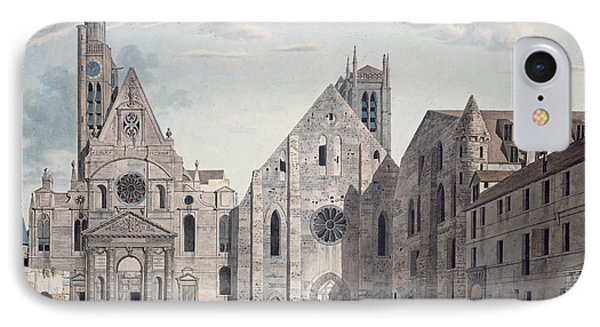 Facades Of The Churches Of St Genevieve And St Etienne Du Mont IPhone Case