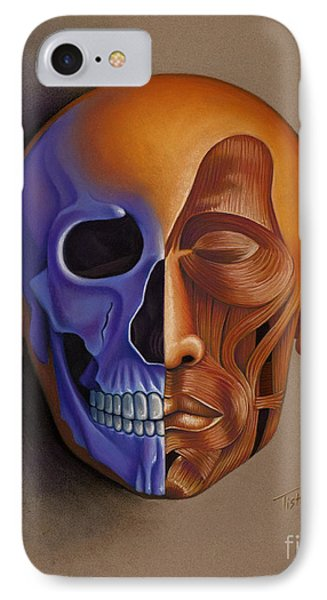 Face Anatomy IPhone Case by Tish Wynne