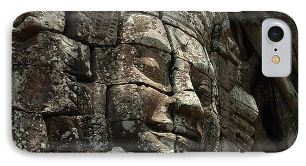 Face At Banyon Ankor Wat Cambodia Phone Case by Bob Christopher
