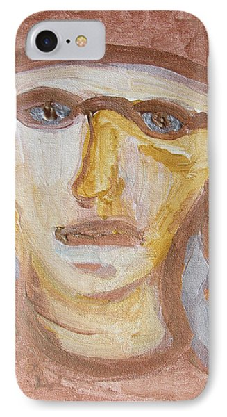 IPhone Case featuring the painting Face Five by Shea Holliman