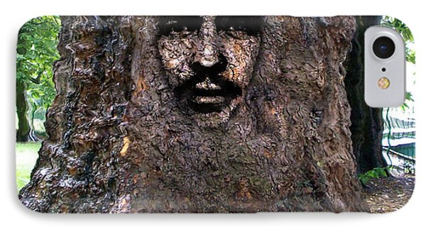 Face In A Tree IPhone Case by Mary M Collins