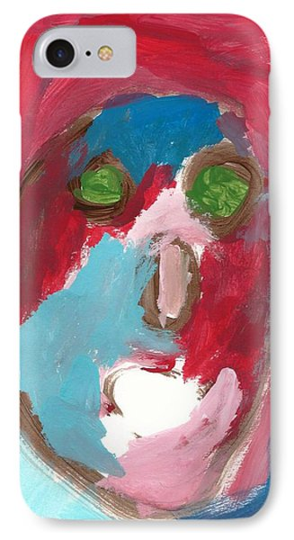IPhone Case featuring the painting Face by Artists With Autism Inc