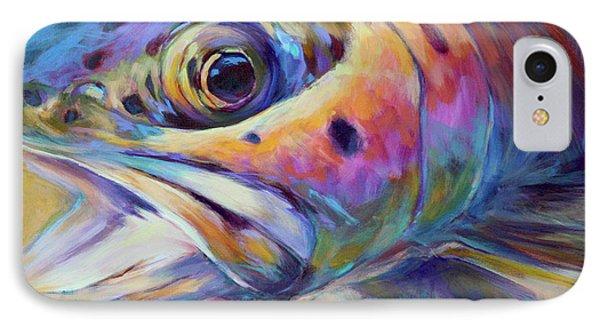 Face Of A Rainbow- Rainbow Trout Portrait IPhone 7 Case by Savlen Art