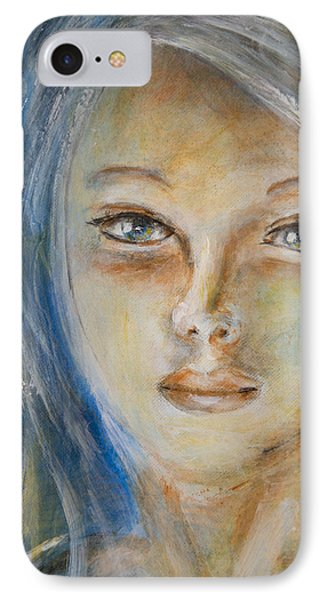 IPhone Case featuring the painting Face Of An Angel by Nik Helbig
