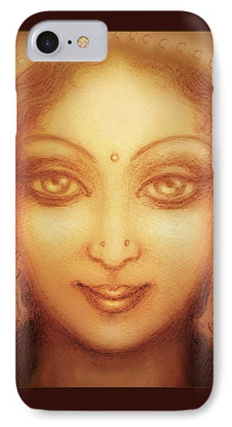 Face Of The Goddess/ Durga Face Phone Case by Ananda Vdovic