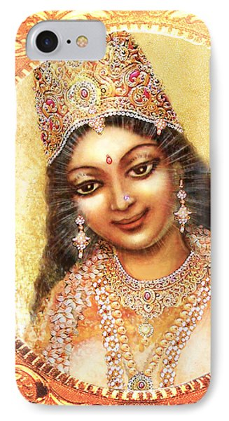 IPhone Case featuring the mixed media Face Of The Goddess - Lalitha Devi  by Ananda Vdovic