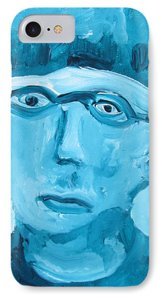 IPhone Case featuring the painting Face One by Shea Holliman