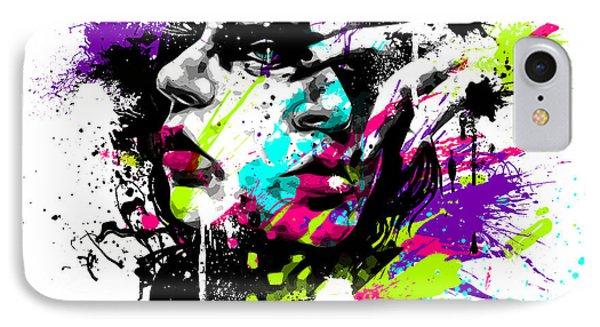 Face Paint 1 Phone Case by Jeremy Scott