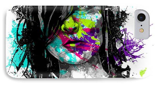 Face Paint 3 Phone Case by Jeremy Scott