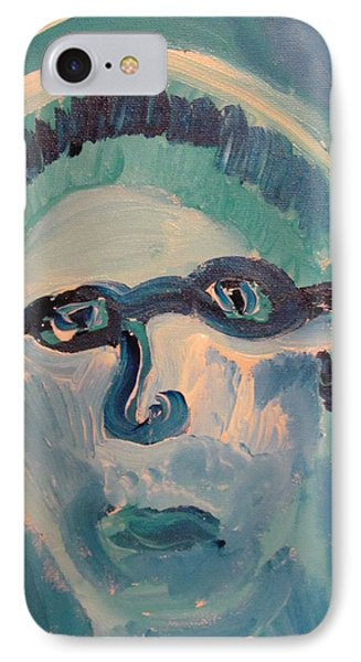 IPhone Case featuring the painting Face Three As Grandpa Snowman by Shea Holliman